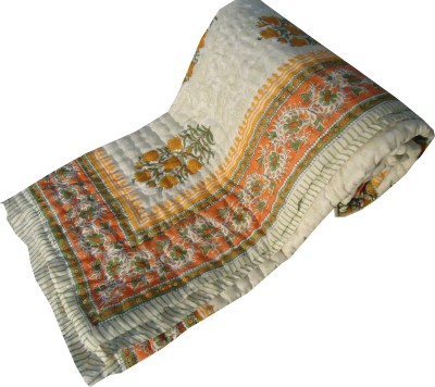 Jaipur Art and Craft Floral Single Quilts & Comforters Mutlicolor