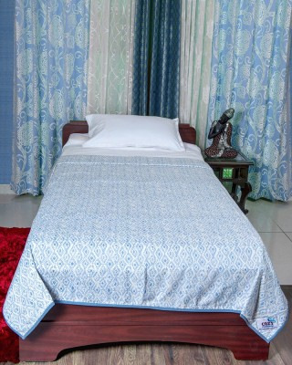 Cozy Sleeeeeep Printed Single Dohar Lite Blue