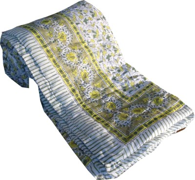 Jaipur Art and Craft Striped Single Quilts & Comforters Mutlicolor