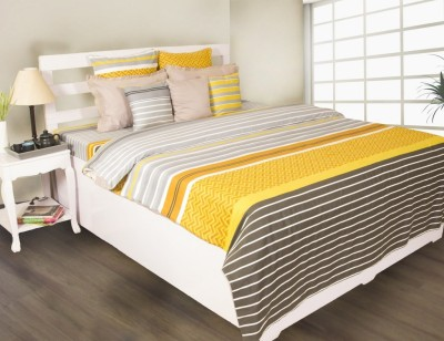 House This Printed Double Dohar Yellow