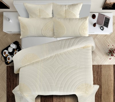 Shahenaz Home Shop Geometric King Quilts & Comforters Offwhite