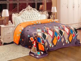 Signature Checkered Double Blanket Orange(Coral Blanket)