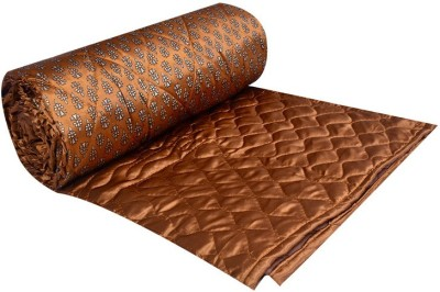 Jingle Impex Printed Double Blanket Golden