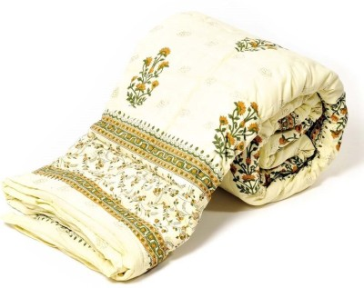 Textile India Floral Double Quilts & Comforters White