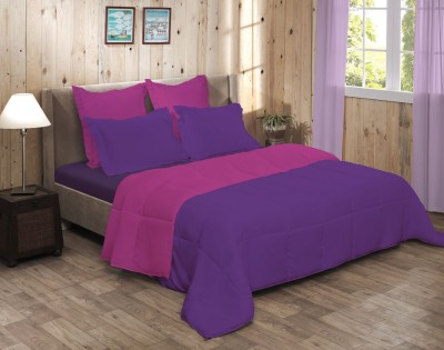 Raymond Home Abstract Double Quilts & Comforters Purple