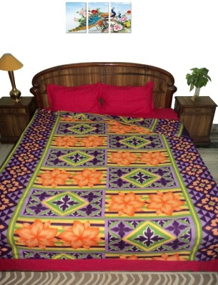 Amita Home Furnishing Floral Double Blanket Multicolor