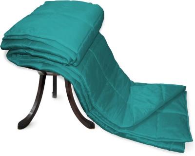 Zikrak Exim Plain Single Blanket Turquise