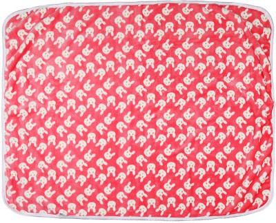 Tinny Tots Cartoon Single Blanket Pink, White