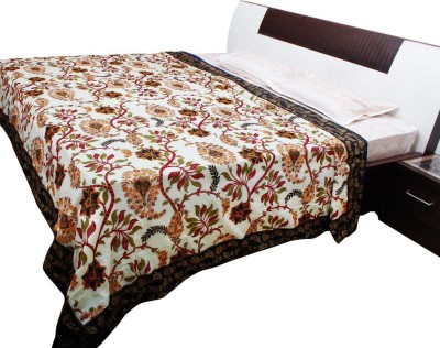 Halowishes Floral Double Quilts & Comforters White, Black