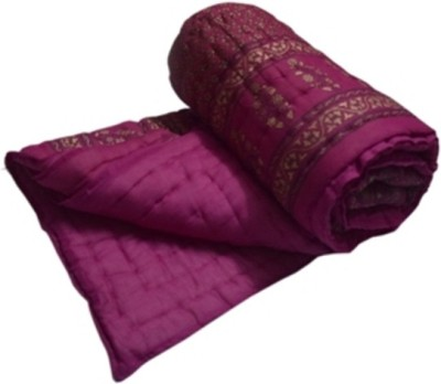 Sparkle Floral Double Quilts & Comforters Maroon