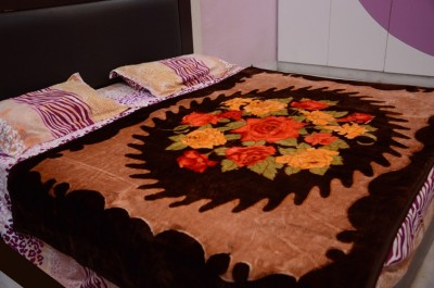 Magical Floral Single Blanket Brown