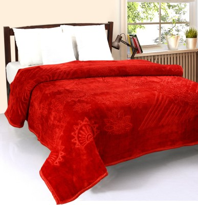 optimistic Home Furnishing Abstract Double Blanket Red