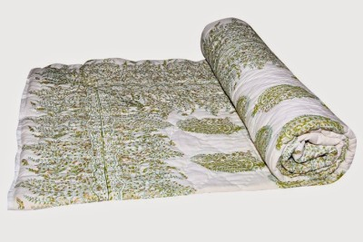 Buy Clues Paisley Single Quilts & Comforters Cream