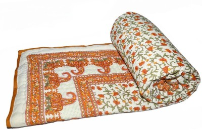 Sudharaj Paisley Double Blanket Orange