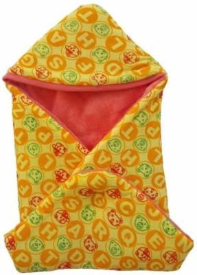 Brandonn Polka Single Hooded Baby Blanket mango