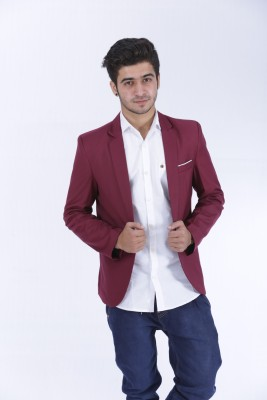 Loto Solid Single Breasted Casual, Party, Wedding, Festive, Formal Men's Blazer