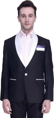 Protext Premium Solid Single Breasted Casual, Party, Formal, Festive, Wedding, Sports Men's Blazer