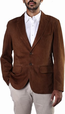 Theo&Ash Solid Single Breasted Casual, Formal Men,s Blazer