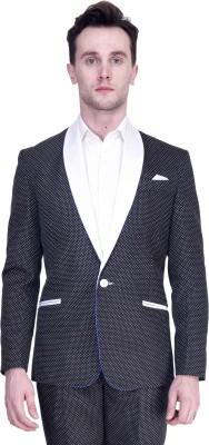 Protext Premium Polka Print Tuxedo Style Casual, Party, Formal, Festive, Wedding, Sports Men's Blazer