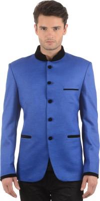 Azio Design Solid Mandarin Party Men's Blazer