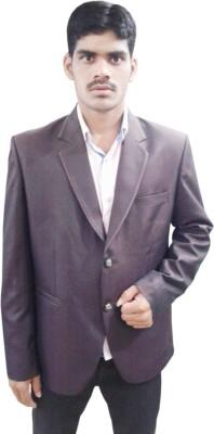 Sarif Log Solid Single Breasted Wedding Men's Blazer