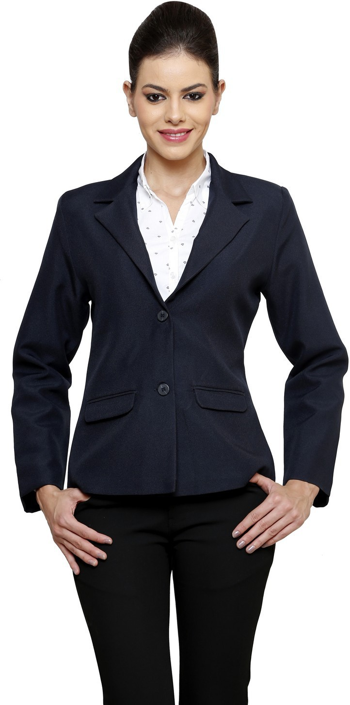 ZX3 Solid Single Breasted Formal Women's Blazer