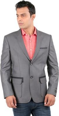 Jhampstead Solid Tuxedo Style Formal Men's Blazer