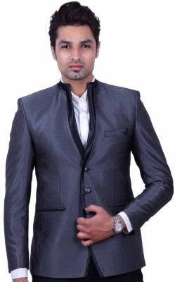 Dresscode Solid Single Breasted Wedding, Casual, Party Men's Blazer