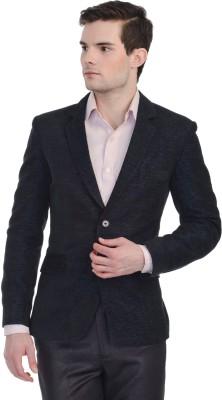 Luxurazi Self Design Single Breasted Party Men's Blazer