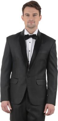 Azio Design Solid Tuxedo Style Party Men's Blazer