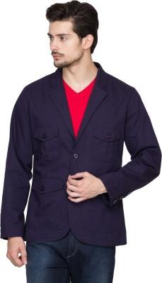 Hypernation Solid Single Breasted Casual Men's Blazer