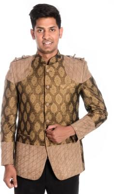 Idlindia Self Design, Applique Single Breasted Lounge Wear, Party Men's Blazer