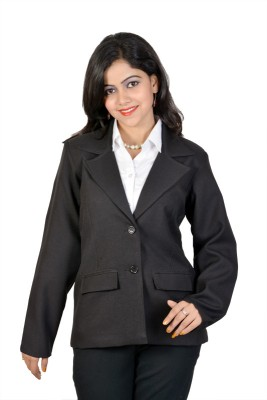 Jazzy Ben Solid Single Breasted Formal Women's Blazer