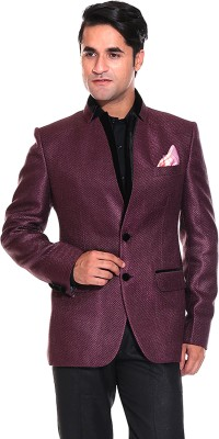 TAG 7 Solid Single Breasted Casual, Party Men's Blazer