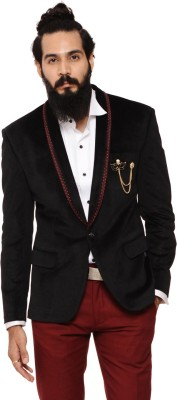 Invern Solid Single Breasted Casual Men's Blazer