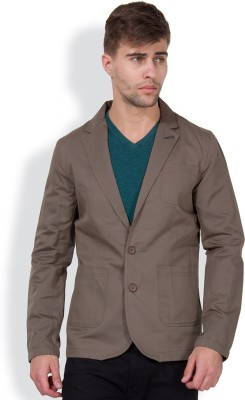 The Indian Garage Co. Solid Single Breasted Casual Men's Blazer