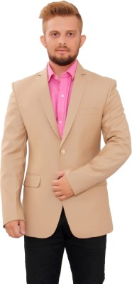 Maveric Solid Single Breasted Formal Men's Blazer
