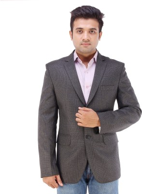 Maveric Checkered Single Breasted Party Men's Blazer