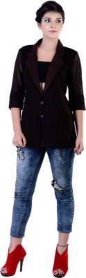 Divaz Fashion Self Design Single Breasted Casual, Party Women's Blazer