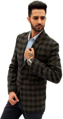 Men In Class Checkered Single Breasted Casual Men's Blazer