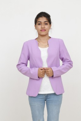 Loto Solid Single Breasted Casual, Party Women's Blazer