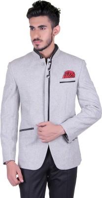 Protext Harringbone Single Breasted Casual, Festive, Formal, Lounge Wear, Party, Sports, Wedding Men's Blazer