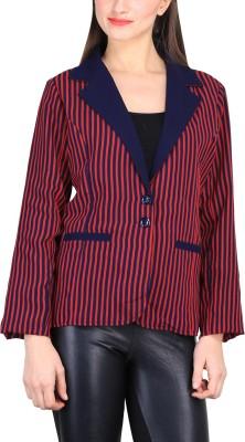 Sierra Striped Tuxedo Style Casual Women's Blazer