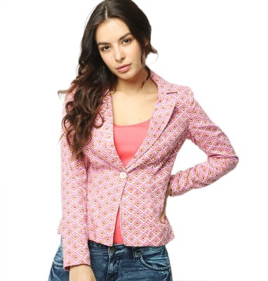 American Swan Printed Single Breasted Casual Women's Blazer