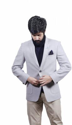 FADJUICE Solid Single Breasted Casual Men's Blazer