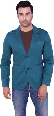 P4 Solid Single Breasted Casual Men's Blazer