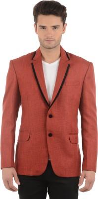 Azio Design Solid Double Breasted Casual Men's Blazer