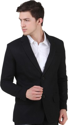 4Stripes Solid Single Breasted Casual Men's Blazer
