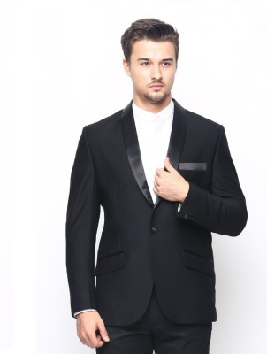 Belario Solid Single Breasted Party Men's Blazer