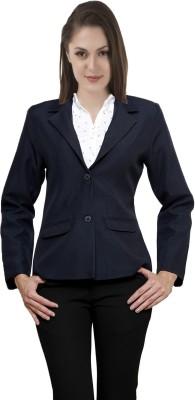 Shoprillo Solid Double Breasted Formal Women's Blazer